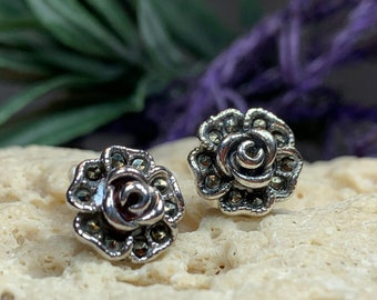 Rose Stud Earrings, Flower Jewelry, Wedding Jewelry, New Bride Gift, Graduation, Anniversary Gift, Stud Earrings, Nature Jewelry, Roses