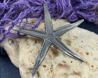 Starfish Brooch, Nautical Jewelry, Starfish Jewelry, Christian Jewelry, Sea Jewelry, Animal Jewelry, Nature Pin, Beach Jewelry, Wife Gift