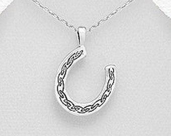 Horseshoe Necklace, Good Luck Charm, Graduation Gift, Retirement Gift, Mom Gift, Celtic Jewelry, Gift for Her, Girlfriend Gift