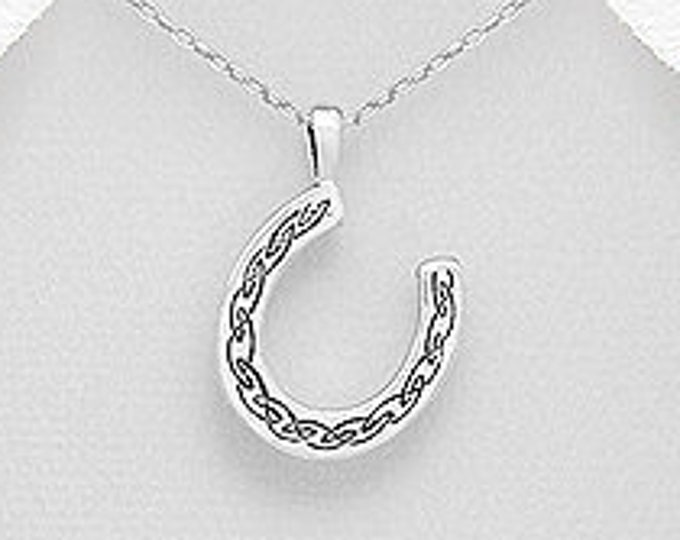 Horseshoe Necklace, Good Luck Charm, Graduation, Retirement, New Bride, Celtic Wedding, Gift for Her, Mother's Day