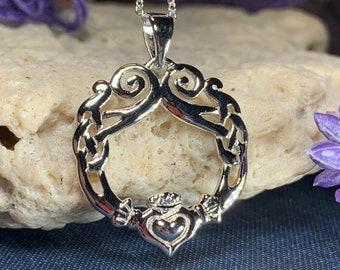 Claddagh Necklace, Celtic Jewelry, Irish Jewelry, Ireland Gift, Mom Gift, Irish Dance Gift, Anniversary Gift, Girlfriend Gift, Wife Gift