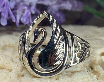 Swan Ring, Children of Lir Jewelry, Irish Jewelry, Celtic Ring, Bridal Jewelry, Friendship Gift, Swan Jewelry, Bird Jewelry, Mom Gift