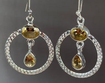 Celtic Hoop Earrings, Celtic Jewelry, Irish Jewelry, Celtic Knot Jewelry, Bridal Jewelry, Peridot Jewelry, Gemstone Jewelry, Mom Gift