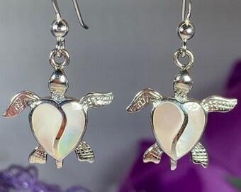 Turtle Earrings, Celtic Jewelry, Animal Jewelry, Beach Jewelry, Nature Jewelry, Anniversary Gift, Graduation Gift, Nautical Jewelry