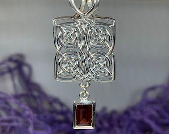 Celtic Knot Necklace, Celtic Jewelry, Irish Jewelry, Ireland Gift, Gemstone Jewelry, Scotland Jewelry, Anniversary Gift, Viking Jewelry