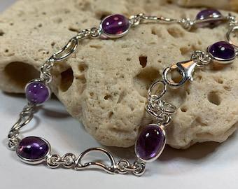 Moon Bracelet, Celtic Jewelry, Irish Jewelry, Celestial Bracelet, Amethyst Jewelry, Girlfriend Gift, Wife Gift, Wiccan Jewelry