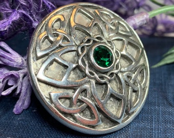 Celtic Knot Brooch, Celtic Pin, Irish Jewelry, Celtic Pin, Wiccan Jewelry, Mom Gift, Wife Gift, Ireland Pin, Trinity Knot Brooch