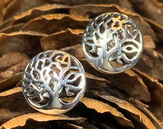 Tree of Life Earrings, Tree Stud Earrings, Norse Jewelry, Irish Jewelry, Mom Gift, Sister Gift, Girlfriend Gift, Anniversary Gift, Wife Gift