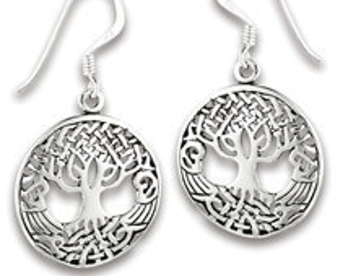 Tree of Life Earrings, Celtic Jewelry, Norse Jewelry, Yoga Jewelry, Norse Jewelry, Anniversary Gift, Gift for Her, Friendship Gift, Wife