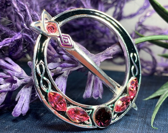 Celtic Brooch, Celtic Jewelry, Irish Jewelry, Irish Dance Gift, Celtic Pin, Tara Brooch, Wiccan Jewelry, Wife Gift, Sister Gift, Mom Gift