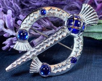Thistle Brooch, Celtic Jewelry, Scottish Pin, Bridal Jewelry, Anniversary Gift, Tartan Pin, Celtic Brooch, Scotland Jewelry, Outlander Pin