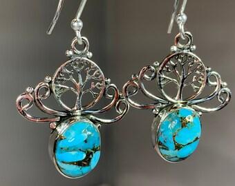 Tree of Life Earrings, Celtic Jewelry, Irish Jewelry, Yoga Jewelry, Anniversary Gift, Norse Jewelry, Sister Gift, Graduation Gift, Mom Gift