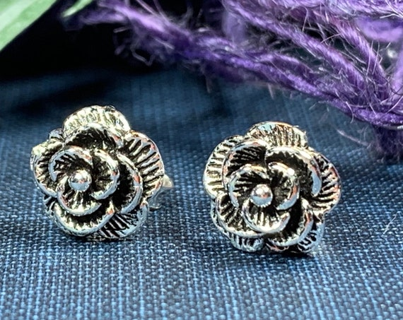 Rose Earrings, Flower Jewelry, Flower Jewelry, Nature Jewelry, Graduation Gift, Stud Earrings, Mom Gift, Sister Gift, Tuscany Gift