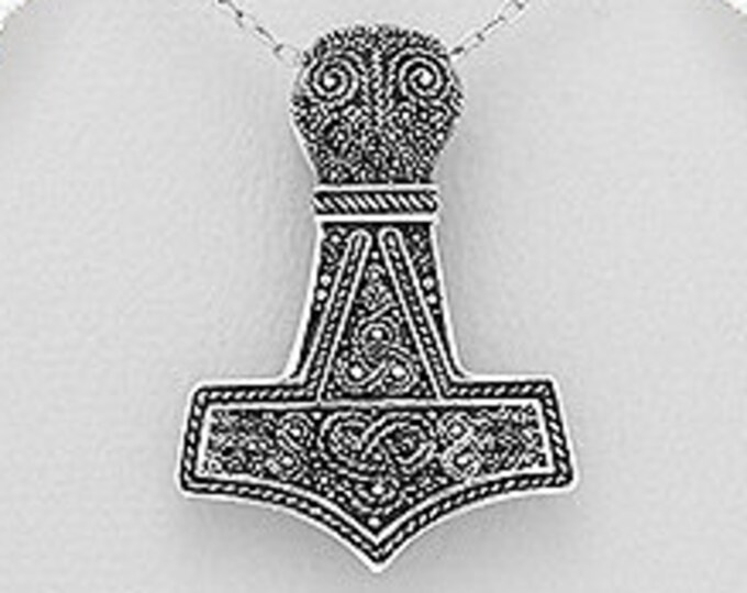 Thor's Hammer Necklace, Norse Necklace, Viking Necklace, Father's Day Gift, Gift for Him, Celtic Jewelry, Mjöllnir, Anniversary, Graduation