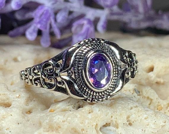 Celtic Knot Ring, Celtic Jewelry, Irish Jewelry, Amethyst Ring, Irish Ring, Irish Dance Gift, Anniversary Gift, Bridal Ring, Wiccan Gift
