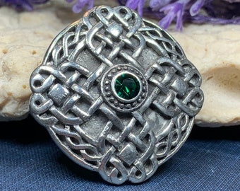 Celtic Knot Brooch, Celtic Jewelry, Irish Jewelry, Scotland Jewelry, Celtic Cross Brooch, Celtic Pin, Wife Gift, Sister Gift, Scotland Pin