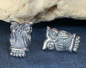 Owl Stud Earrings, Barn Owl Earrings, Norse Jewelry, Owl Gift, Nature Jewelry, Mom Gift, Sister Gift, Girlfriend Gift, Pagan Jewelry