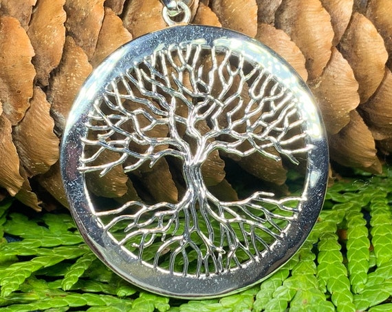 Tree of Life Necklace, Celtic Necklace, Irish Jewelry, Norse Jewelry, Anniversary Gift, Bridal Jewelry, Mom Gift, Yoga Jewelry, Wife Gift