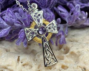 Celtic Cross Necklace, Irish Jewelry, First Communion Cross, Cross Necklace, Religious Jewelry, Bridal Jewelry, Religious Jewelry, Celtic