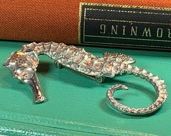 Seahorse Brooch, Celtic Jewelry, Nautical Jewelry, Seahorse Pin, Graduation Gift, Anniversary Gift, Beach Jewelry, Ocean Jewelry