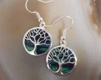 Tree of Life Earrings, Celtic Jewelry, Scotland Jewelry, Heather Gem, Norse Jewelry, Celtic Tree, Best Friend Gift, Yoga Jewelry