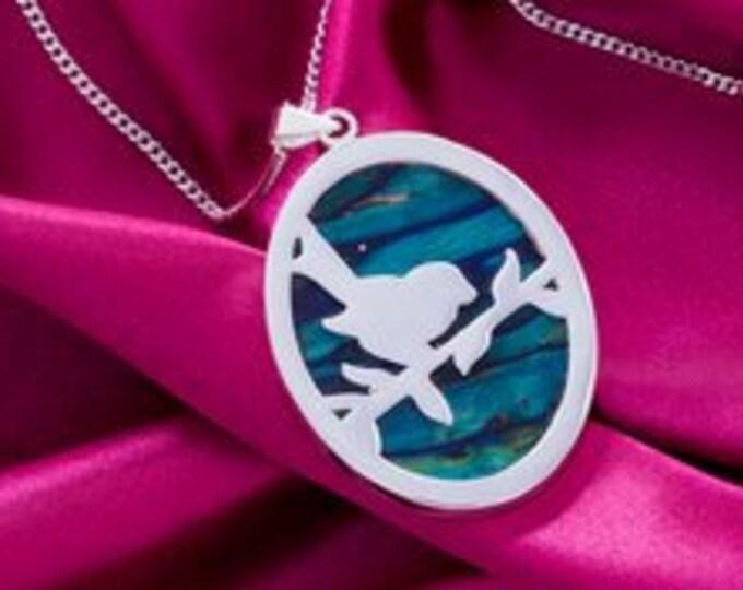 Robin Necklace, Nature Necklace, Bird Jewelry, Scotland Jewelry, Heather Gem, Sparrow Necklace, Graduation Gift, Anniversary Gift