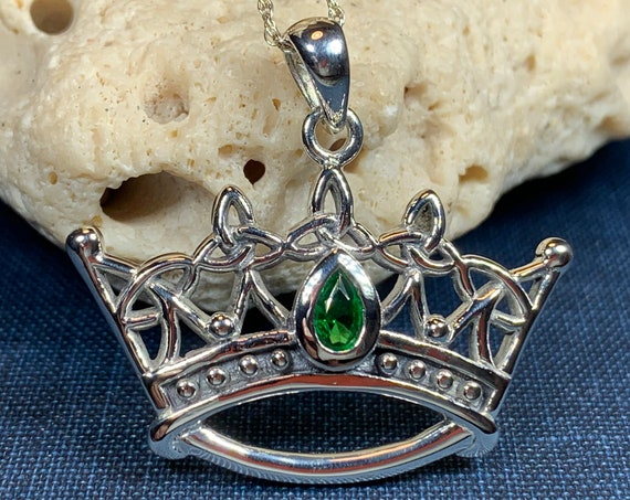 Celtic Crown Necklace, Irish Jewelry, Celtic Jewelry, Trinity Knot Jewelry, Scotland Jewelry, Ireland Gift, Girlfriend Gift, Mom Gift