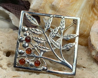 Tree of Life Brooch, Celtic Brooch, Rowan Tree Pin, Scotland Jewelry, Nature Jewelry, Tree Jewelry, Wiccan Jewelry, Pagan Jewelry