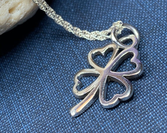 Shamrock Necklace, Clover Jewelry, Irish Jewelry, Celtic Knot Jewelry, Irish Gift, Anniversary Gift, Friendship Gift, Celtic Necklace