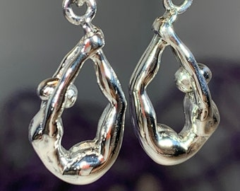 Yoga Pose Earrings, Om Jewelry, Chakra Jewelry, Yoga Jewelry, Boho Jewelry, Inspirational Jewelry, Lotus Jewelry, Anniversary Gift