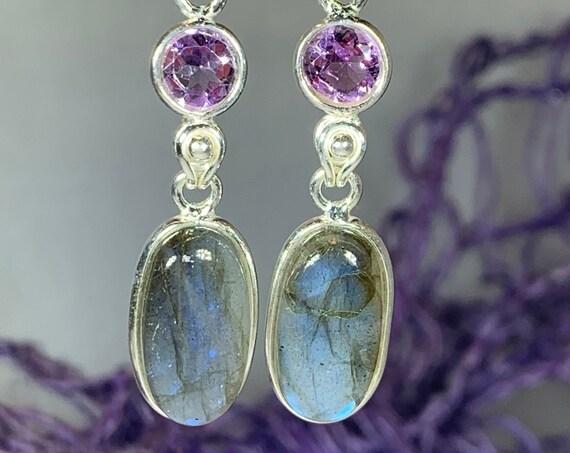 Celtic Goddess Earrings, Celtic Jewelry, Irish Jewelry, Labradorite Jewelry, Bridal Jewelry, Wiccan Jewelry, Scotland Jewelry, Mom Gift