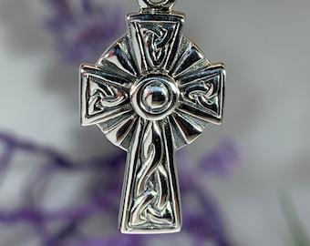 Celtic Cross Necklace, Irish Cross, Irish Jewelry, First Communion Gift, Bridal Jewelry, Anniversary Gift, Scotland Jewelry, Confirmation