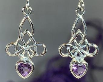 Celtic Knot Earrings, Anniversary Gift, Irish Jewelry, Scotland Jewelry, Mom Gift, Wife Gift, Endless Knot Earrings, Ireland Gift, Love Knot