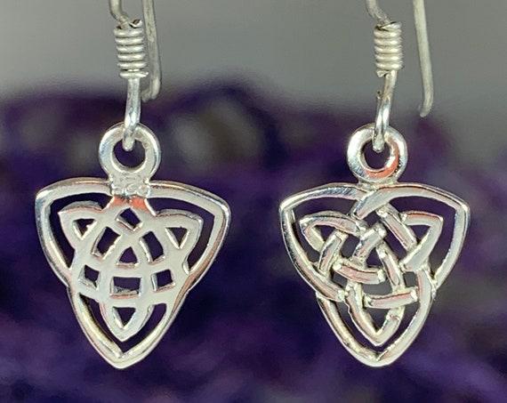 Celtic Knot Earrings, Celtic Jewelry, Irish Jewelry, Scotland Jewelry, Trinity Knot Jewelry, Pagan Jewelry, Bridal Jewelry, Anniversary Gift