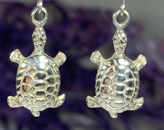 Turtle Earrings, Celtic Jewelry, Animal Jewelry, Beach Jewelry, Gift for Her, Nature Jewelry, Anniversary Gift, Graduation Gift, Nautical