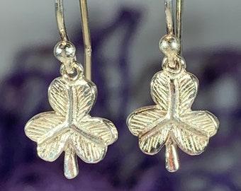 Shamrock Earrings, Celtic Jewelry, Irish Jewelry, Clover Jewelry, Mom Gift, Nature Jewelry, Irish Dance Gift, Sister Gift, Wife Gift
