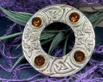 Celtic Knot Brooch, Celtic Pin, Irish Jewelry, Scotland Brooch, Wiccan Jewelry, Mom Gift, Wife Gift, Ireland Pin, Norse Brooch, Tartan Pin