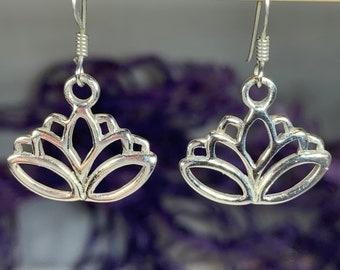 Lotus Earrings, Flower Earrings, Boho Jewelry, Hippie Jewelry, Yoga Jewelry, Mom Gift, Girlfriend Gift, Anniversary Gift, Graduation Gift