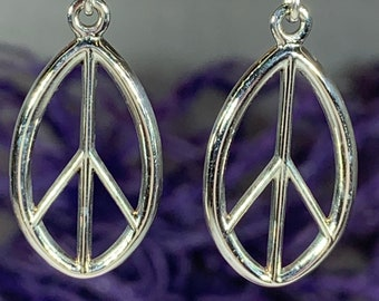 Peace Sign Earring, Celtic Jewelry, Irish Jewelry, Sister Gift, Girlfriend Gift, Graduation Gift, Wife Gift, Yoga Gift, Friendship Gift