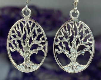 Tree of Life Earrings, Celtic Jewelry, Irish Jewelry, Norse Jewelry, Yoga Jewelry, Anniversary Gift, Tree Jewelry, Graduation Gift, Wiccan