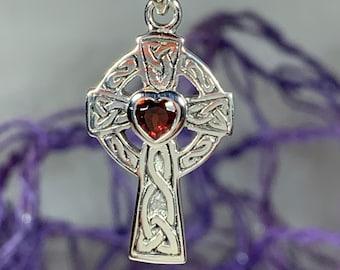 Celtic Cross Necklace, Claddagh Jewelry, Irish Cross, Irish Jewelry, First Communion Gift, Religious Jewelry, Ireland Gift, Dad Gift