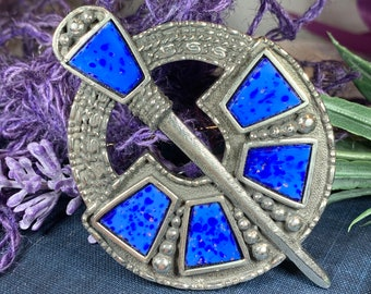 Celtic Brooch, Celtic Jewelry, Irish Jewelry, Scotland Jewelry, Anniversary Gift, Viking Brooch, Kilt Pin, Celtic Pin, Retirement Gift