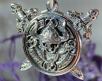 Viking Necklace, Warrior Jewelry, Norse Jewelry, Pagan Jewelry, Viking Pendant, Celtic Knot Jewelry, Birthday Gift, Dad Gift, Boyfriend Gift