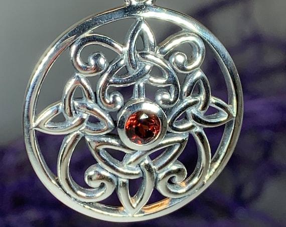 Trinity Knot Necklace, Celtic Necklace, Irish Jewelry, Trinity Knot Jewelry, Wiccan Jewelry, Mom Gift, Anniversary Gift, Shield Knot