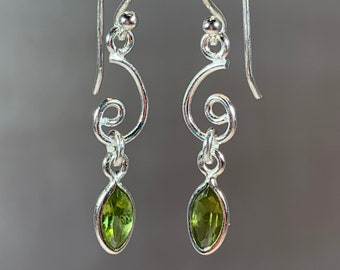 Celtic Earrings, Celtic Jewelry, Peridot Jewelry, Wiccan Jewelry, Norse Jewelry, Irish Jewelry, Scotland Jewelry, Gift for Her, Mom Gift