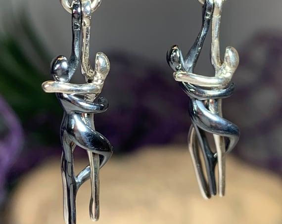 Yin Yang Earrings, Celtic Knot Jewelry, Yoga Jewelry, Wiccan Jewelry, Yin Yang Jewelry, Yoga Gift, Chinese Symbol Jewelry, Wife Gift