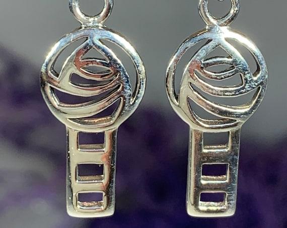 Rose Earrings, Scotland Jewelry, Mackintosh Jewelry, Art Deco Jewelry, Anniversary Gift, Celtic Earrings, Nature Jewelry, Art Deco Jewelry