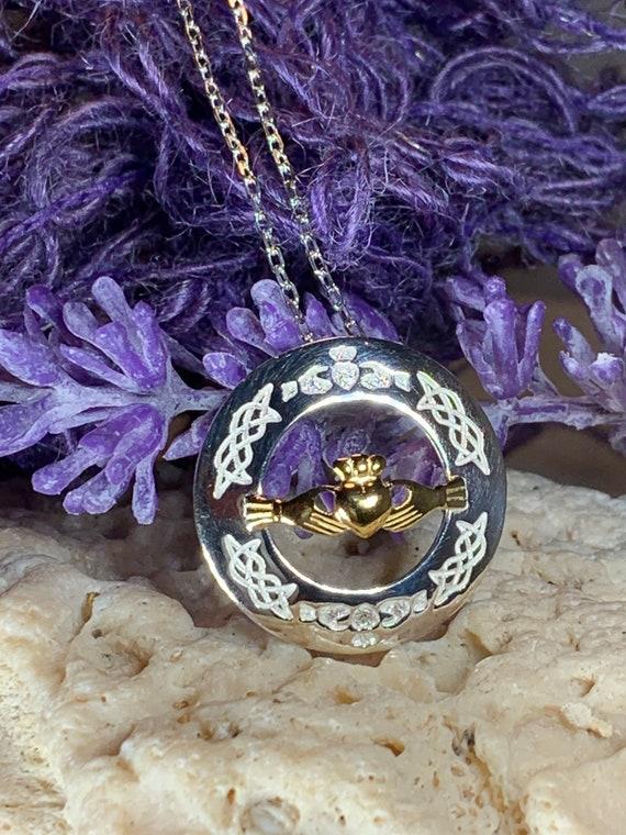 Claddagh Necklace, Celtic Jewelry, Irish Jewelry, Ireland Gift, Wife Gift, Girlfriend Gift, Anniversary Gift, Heart Jewelry, Bridal Jewelry