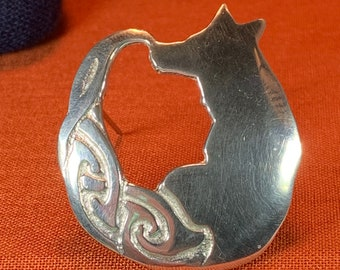 Fox Brooch, Nature Jewelry, Celtic Jewelry, Irish Jewelry, Graduation Gift, Anniversary Gift, Mom Gift, Girlfriend Gift, Celtic Knot Pin