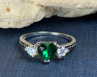 Heart Ring, Celtic Jewelry, Irish Jewelry, Birthstone Jewelry, Irish Gift, Promise Ring, Anniversary Gift, Sweet 16 Gift, Girlfriend Gift